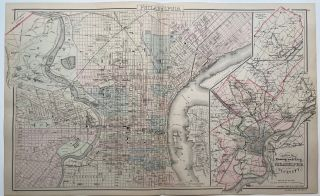 Outline Map of the County and City of Philadelphia and Vicinity. O. W. GRAY
