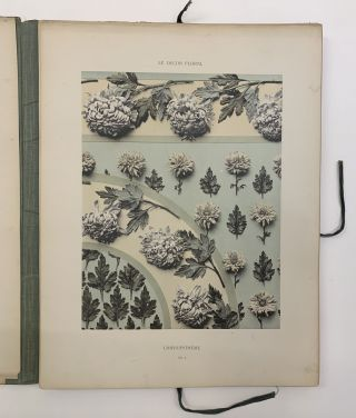 "Documents d""Art Decoratif d'apres nature Le Decor Floral. 50 planches. Bordures et Panneaux - Semis, Fonds ornes, etc."
