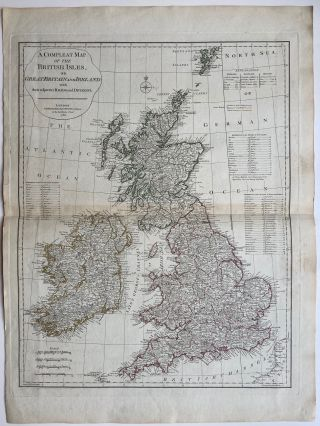 A Compleat Map of the British Islands or Great Britain and Ireland; with their Respective Roads...