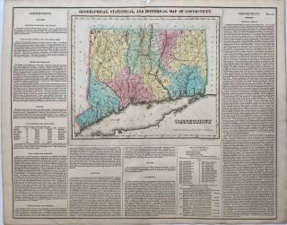 Geographical, Statistical, and Historical Map of Connecticut. CAREY, LEA