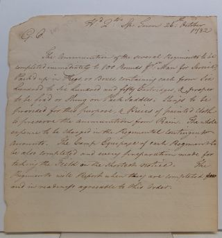 Important Manuscript Document. AMERICAN REVOLUTION