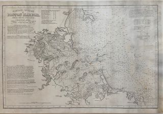 Eldridge's New Chart of Boston Harbor; Compiled from the Latest Surveys, Boston, 1871. George...