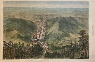 Hot Springs, Arkansas, Looking South, Down the Valley. HARPER'S WEEKLY