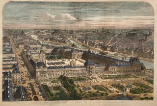Panoramic View of Paris with the Louvre and Rue de Rivoli Completed. The Illustrated London News