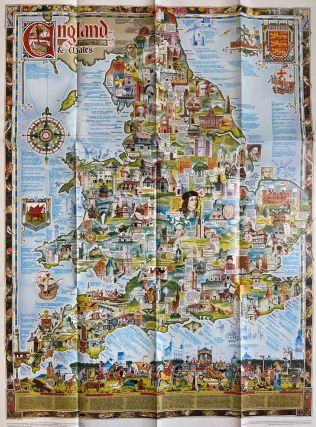 England & Wales Heritage Colour Pictorial Map. L. J. YOUNG