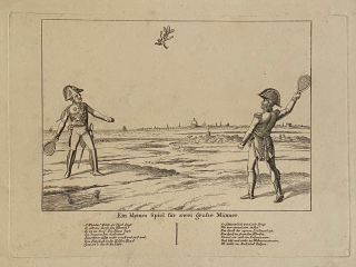 Ein kleins Spiel fur zwei grosse Manner; [A Small Game for Two Tall Men]. Johann Michael VOLTZ
