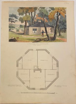 A Woodman's Cottage, Design, No 11. John HALL