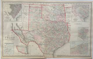 Gray's New Map of Texas. Frank A. GRAY