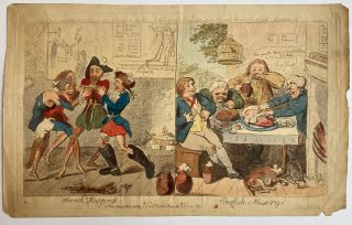French Happiness v English Misery. Isaac CRUIKSHANK