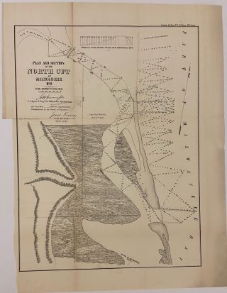 Plan and Section of the North Cut at Milwaukee No. 2. J. H. GUNNISON