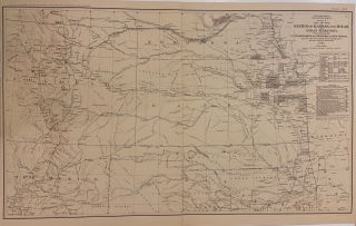 Section of the Map of the States of Kansas and Texas and Indian Territory, with Parts of the...