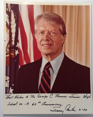 Inscribed Official White House Photograph. Jimmy CARTER, 1924