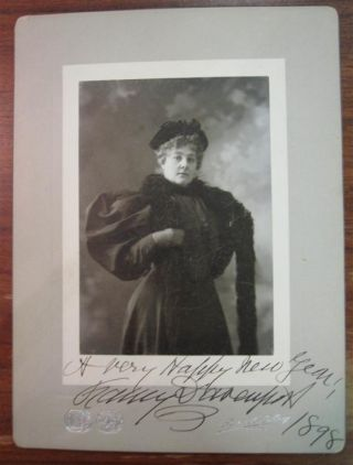 Inscribed Vintage Photograph. Fanny DAVENPORT, 1850 - 1898