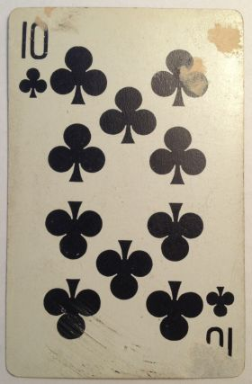 Inscribed Playing Card