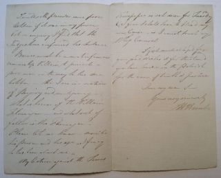 Autographed Letter Signed to an editor. Henry HUNT, 1773 - 1835