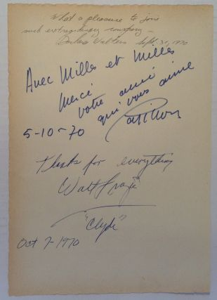 "Signed Guest Book Page. Walt ""Clyde"" FRAZIER"