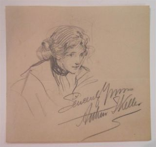 Inscribed Drawing. Arthur I. KELLER, 1867 - 1924