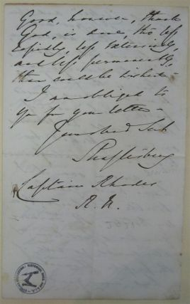 "Autographed Letter Signed ""Shaftesbury"""