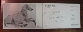 Inscribed Brochure. Dame Elisabeth FRINK