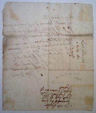Autographed Letter Signed to the Earl of Suffolk