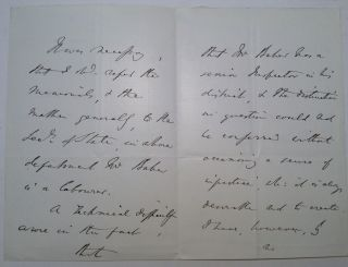 Autographed Letter Signed to the Earl of Shaftsbury