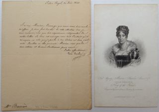 Autographed Letter Signed in French. MARIE-AMELIE DE BOURBON, 1782 - 1866